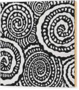 Swirly Twirly 2 Wood Print