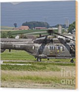 Swiss Air Force Eurocopter Cougar Wood Print