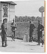 Swiss And German Border Guards Wood Print