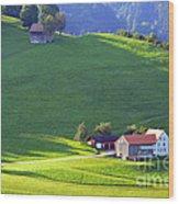 Swiss Farm House Wood Print