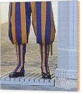 Swiss Guards. Vatican Wood Print by Bernard Jaubert