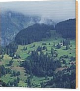 Swiss Mountain Village Wood Print