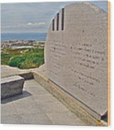 Swissair Flight 111 Of 1998 Memorial In Whalesback-ns Wood Print