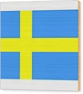 Sweden Flag Wood Print