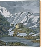 Switzerland Hospice Of St. Bernard Wood Print by Italian School