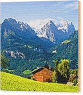 Switzerland Oil On Canvas Wood Print