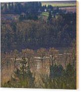 Swollen River Wood Print