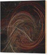 Swoosh Wood Print