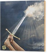 Sword Of The Spirit Wood Print by Tamer and Cindy Elsharouni