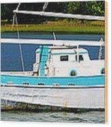 Swordfish Boat Pano Wood Print