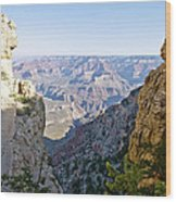 Swtichback Trails On The Steep Walls Of The Grand Canyon Wood Print