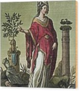 Sybil Of Eritrea With Her Insignia, 1796 Wood Print