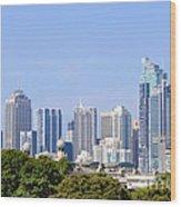Sydney City Skyline Wood Print
