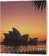 Sydney Harbour Sunrise Wood Print
