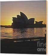 Sydney Morning Wood Print