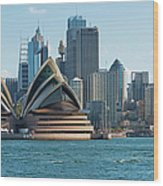 Sydney Opera House And Waterfront Wood Print