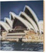 Sydney Opera House V11 Wood Print