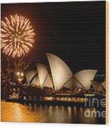 Sydney Opera Theatre Wood Print