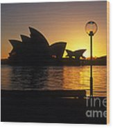 Sydney Sunrise Wood Print