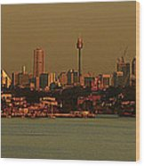 Sydney Sunset Wood Print