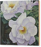 Sydneys Rose Oil Painting Wood Print