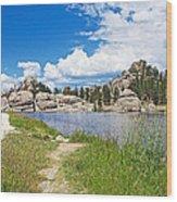 Sylvan Lake Trail In Custer State Park-south Dakota Wood Print