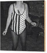 Sylver Short Halloween Tucson Arizona 1990 Black And White Wood Print