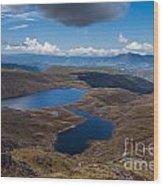 Sylvester Lakes In Kahurangi National Park Nz Wood Print
