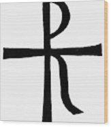 Symbol Christ Wood Print