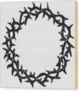 Symbol Crown Of Thorns Wood Print