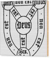 Symbol Holy Trinity Wood Print