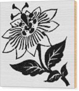 Symbol Passion Flower Wood Print