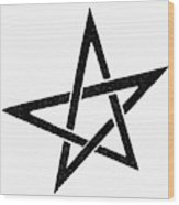Symbol Pentacle Wood Print