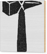 Symbol Thor's Hammer Wood Print