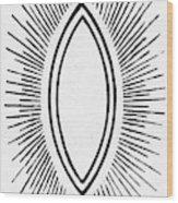 Symbol Vesica Piscis Wood Print
