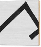 Symbols Chevron Cross Wood Print