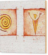 Symbols In Stone Wood Print