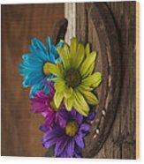 Symbols Of A Cowgirl's Love Wood Print