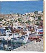 Symi Island Greece Wood Print