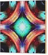 Symmetry Of Colors Wood Print