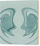 Symmetry Wood Print by Soumya Bouchachi