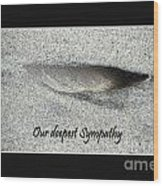 Sympathy Feather Wood Print