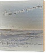Sympathy Greeting Card - Ocean After Storm Wood Print