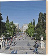 Syntagma Square In Athens Wood Print