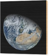 Synthesized View Of Earth Showing North Wood Print