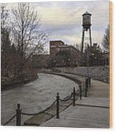 Syracuse Creekwalk Wood Print