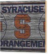 Syracuse Orangemen Wood Print