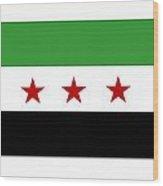 Syria Republic Flag Wood Print