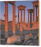 Syria, The Great Tetra Pylon At Palmyra Wood Print