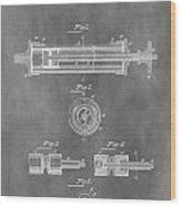 Syringe Patent Design Wood Print